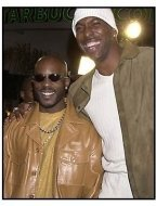 DMX and John Salley at the Exit Wounds premiere