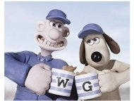 Wallace & Gromit: The Curse of the Were-Rabbit Movie Stills: Wallace, voiced by Peter Sallis and Gromit