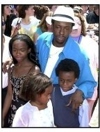 Bobby Brown and kids at The Princess Diaries premiere
