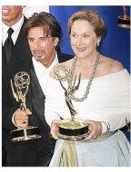 Al Pacino and Meryl Streep backstage at the 2004 Emmy Awards
