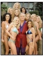 Girl Next Door: The Search for a Playboy Centerfold TV still: Hugh Hefner and ten lovelies