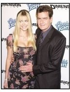 "Denise Richards and Charlie Sheen at the ""Scary Movie 3"" premiere"