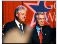 Bill Clinton and Gov. Gray Davis at the 2000 Democratic Welcome Party