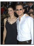 Christian Slater and wife Ryan Haddon at the Minority Report premiere