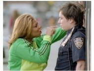 """Taxi"" Movie Still:Queen Latifah and Jimmy Fallon"