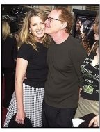 "Bridget Fonda and Danny Elfman at the ""Seabiscuit"" premiere"