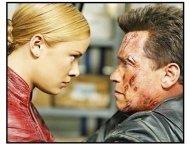 """Terminator 3: Rise Of The Machines"" Movie Still: Kristanna Loken and Arnold Schwarzenegger"