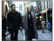 Possession movie still: Aaron Eckhart as Roland and Gwyneth Paltrow as Maud