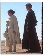 Star Wars: Episode II--Attack of the Clones movie still: Amidala and Anakin on Tatooine