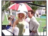 """Big Trouble movie still: Rene Russo and Tim Allen on the set of """"Big Trouble"""""""