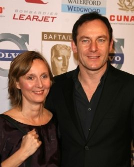 Emma Hewitt and Jason Isaacs