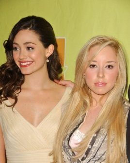 Emmy Rossum and Skyler Shaye