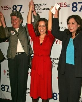 Alyssa Milano and Rally Supporters