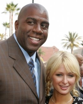 Magic Johnson and Paris Hilton