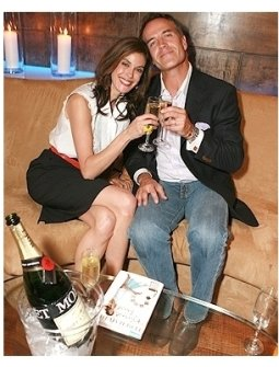 "Teri Hatcher's Book ""Burnt Toast and Other Philosophies of Life"" Party:  Teri Hatcher and Richard Burgi"