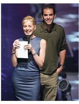 Sharon Stone and Pete Sampras