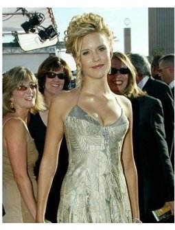 Maggie Grace on the red carpet at the 57th Annual Primetime Emmy Awards