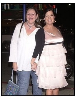 """Camryn Manheim and Marcia Gay Harden at the """"Welcome to Mooseport"""" Premiere"""