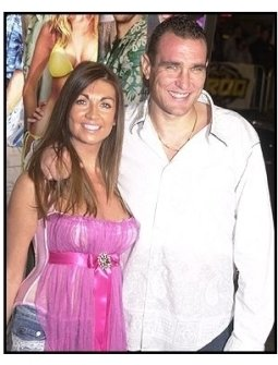 "Vinnie Jones and wife Tanya at ""The Big Bounce"" premiere"