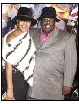 "Cedric the Entertainer and wife at the ""Barbershop 2: Back in Business"" premiere"