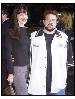 "Kevin Smith and wife Jennifer at the ""Kill Bill Vol. 1"" premiere"