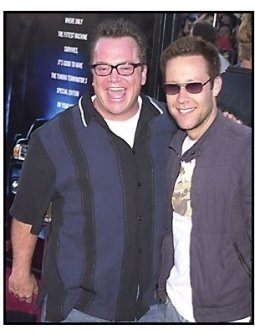 "Tom Arnold and Michael Rosenbaum at the ""Terminator 3: Rise of the Machines"" premiere"
