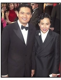 Chow Yun-Fat and wife Jasmine at the 2001 Academy Awards