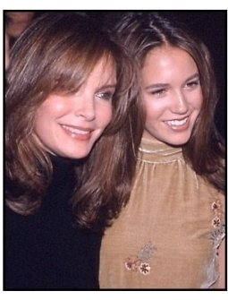 Jaclyn Smith and daughter at the Charlie's Angels premiere