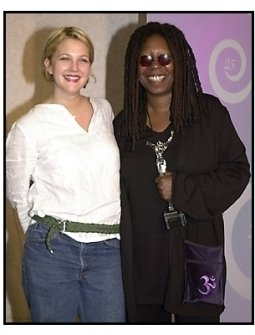 Drew Barrymore and Whoopi Goldberg at the 2001 Crystal Awards