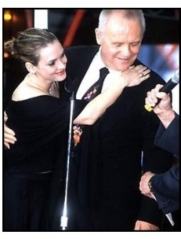 Anthony Hopkins and Winona Ryder at the Hand and Footprint Ceremony