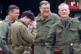 The Monuments Men behind the scenes
