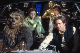Star Wars Episode VI Return of the Jedi, Mark Hamill, Carrie Fisher, Harrison Ford and Anthony Daniels