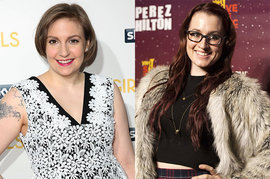 Lena Dunham and Ingrid Michaelson