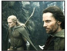 """The Lord of the Rings: The Return of the King"" Movie Still: Orlando Bloom and Viggo Mortensen"