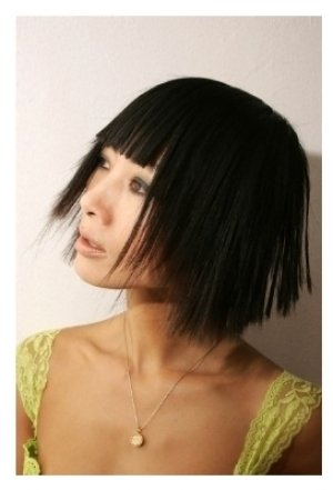 Bai Ling showing off her brand new hair style