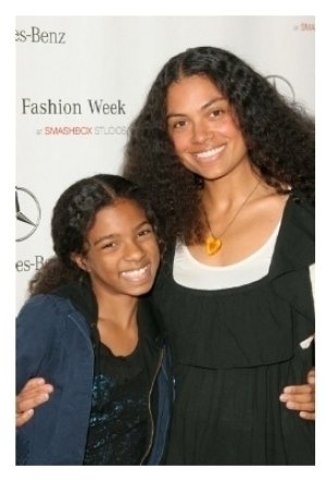 Amel Larrieux and daughter Sky