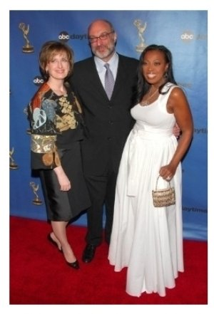 Anne Sweeney with Brian Frons and Star Jones Reynolds