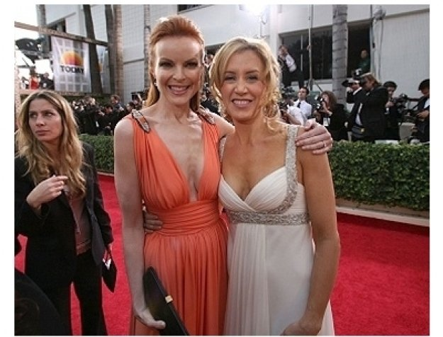 63rd Golden Globes Red Carpet Photos: Marcia Cross and Felicity Huffman