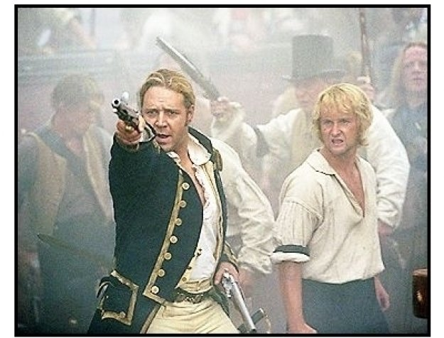 """Master and Commander: The Far Side of the World"" Movie Still: Russell Crowe and Billy Boyd"