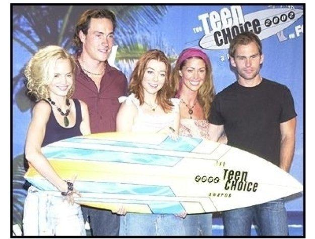 "Teen Choice Awards 2002 Backstage:  ""Amercian Pie 2"" cast won the Choice Movie, Comedy"