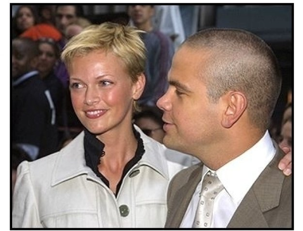 Sarah O'Hare and Lachlan Murdoch at the Minority Report premiere