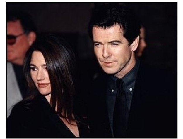 Pierce Brosnan and Keely Shaye Smith at the Dante's Peak premiere