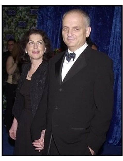 David Chase and date at the HBO party following the 55th Annual Primetime Emmy Awards