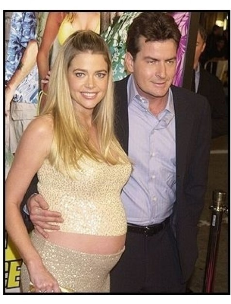 """Charlie Sheen and wife Denise Richards at """"The Big Bounce"""" premiere"""