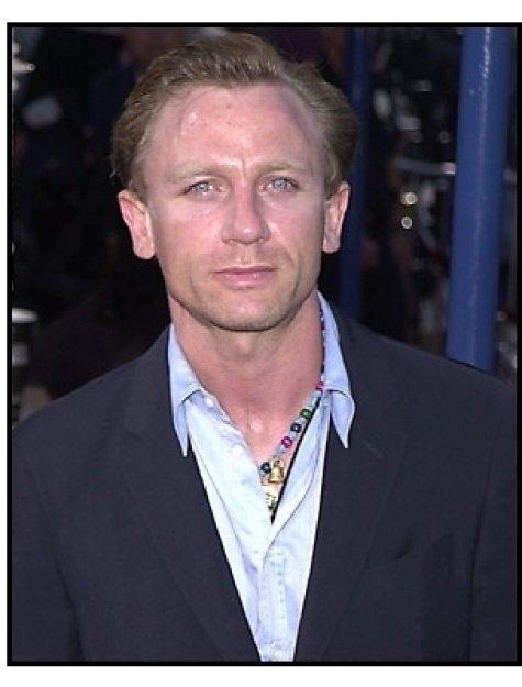 Daniel Craig at the Tomb Raider premiere