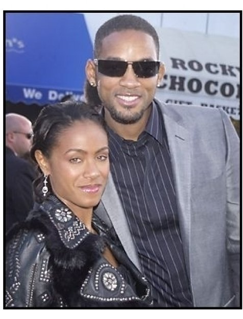 "Jada Pinkett Smith and Will Smith at ""The Matrix Reloaded"" premiere"