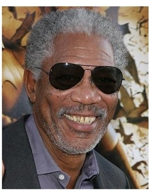 Batman Begins Premiere: Morgan Freeman