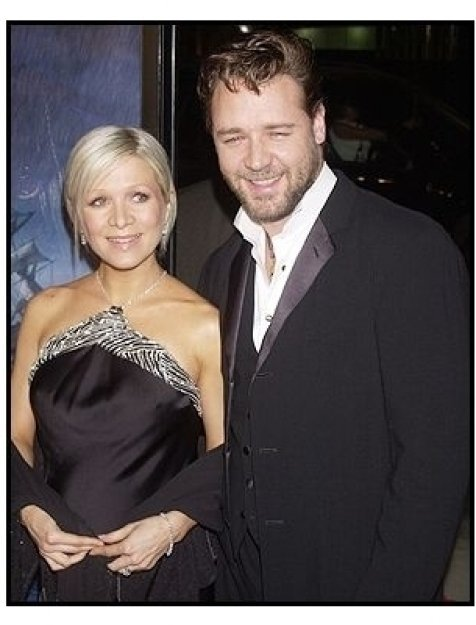 """Russell Crowe and wife Danielle at the """"Master and Commander"""" premiere"""
