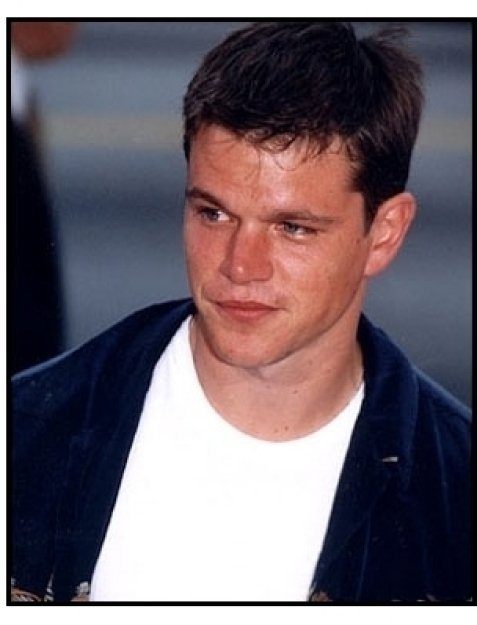 "Matt Damon at the ""28 Days"" premiere."