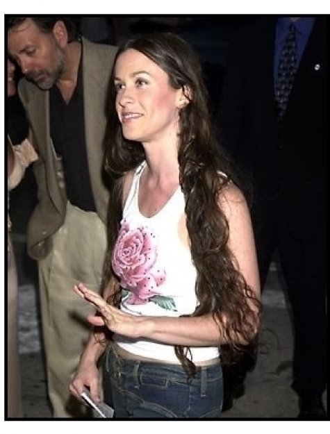 Alanis Morissette at the Jay and Silent Bob Strike Back premiere